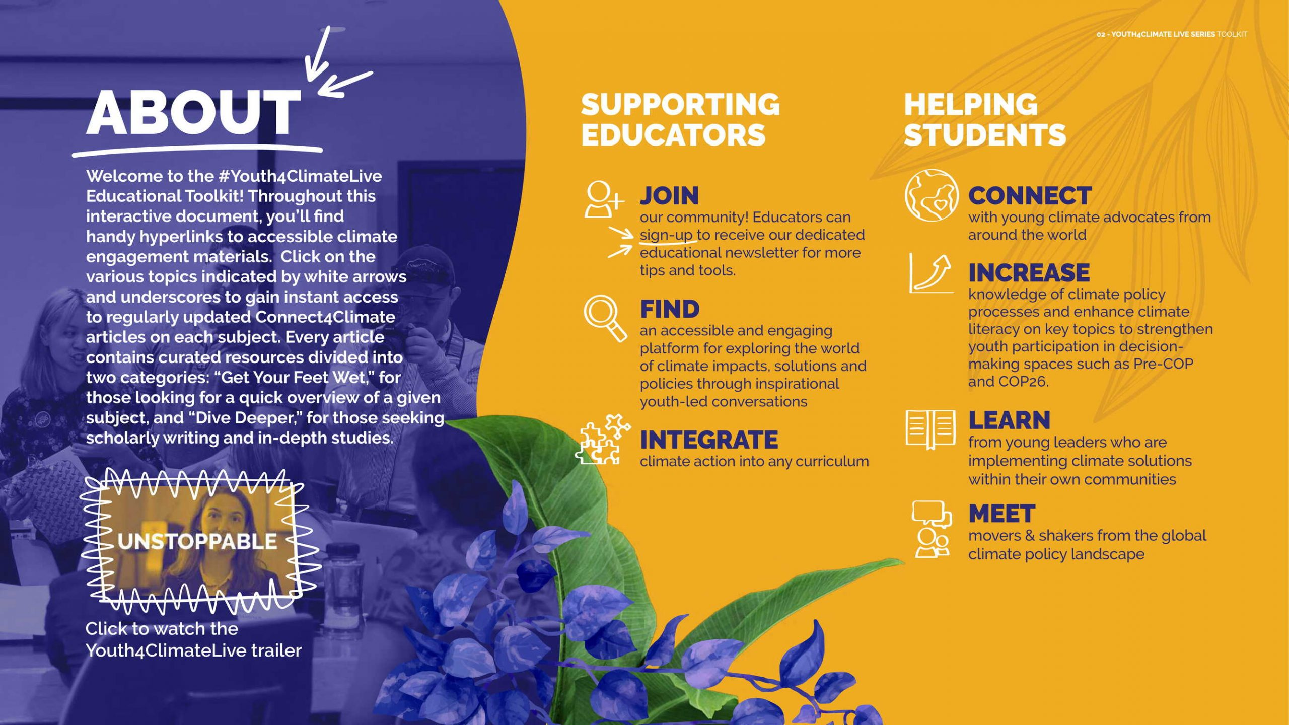 page from Y4C Educational toolkit